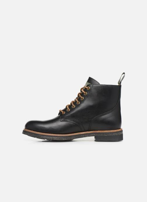 Bottines et boots Polo Ralph Lauren RL Army BT Smooth Leather Noir vue face