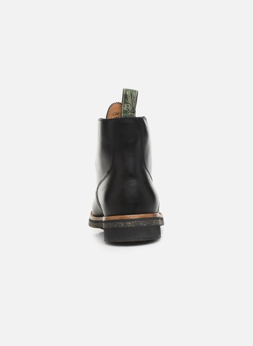 Ankle boots Polo Ralph Lauren RL Army BT Smooth Leather Black view from the right