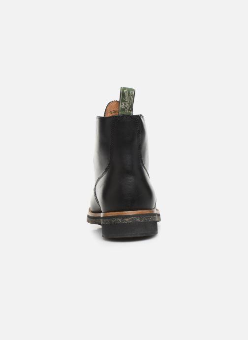 Bottines et boots Polo Ralph Lauren RL Army BT Smooth Leather Noir vue droite