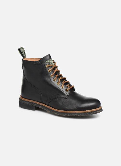 Ankle boots Polo Ralph Lauren RL Army BT Smooth Leather Black detailed view/ Pair view