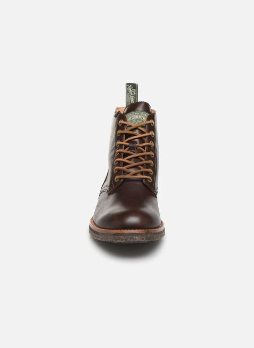 Bottines et boots Polo Ralph Lauren RL Army BT Smooth Leather Marron vue portées chaussures
