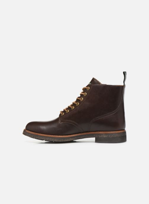 Ankle boots Polo Ralph Lauren RL Army BT Smooth Leather Brown front view