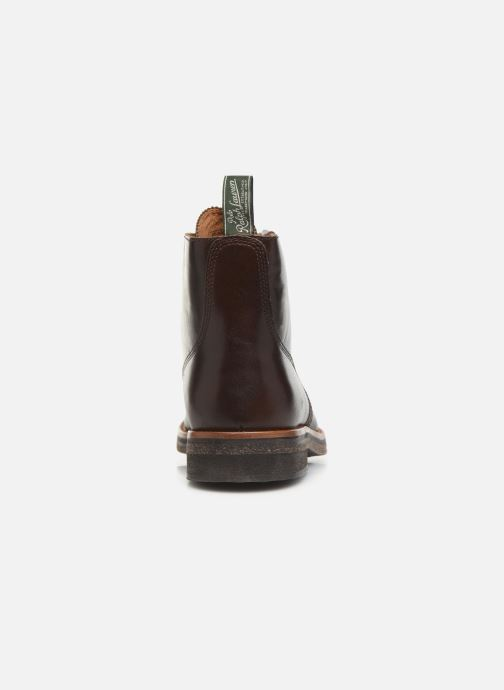 Ankle boots Polo Ralph Lauren RL Army BT Smooth Leather Brown view from the right