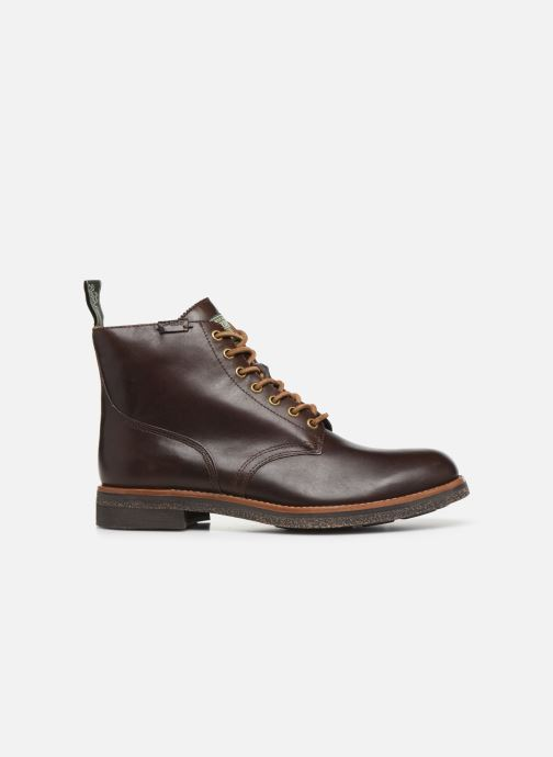 Ankle boots Polo Ralph Lauren RL Army BT Smooth Leather Brown back view