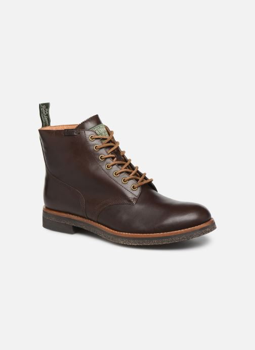 Ankle boots Polo Ralph Lauren RL Army BT Smooth Leather Brown detailed view/ Pair view