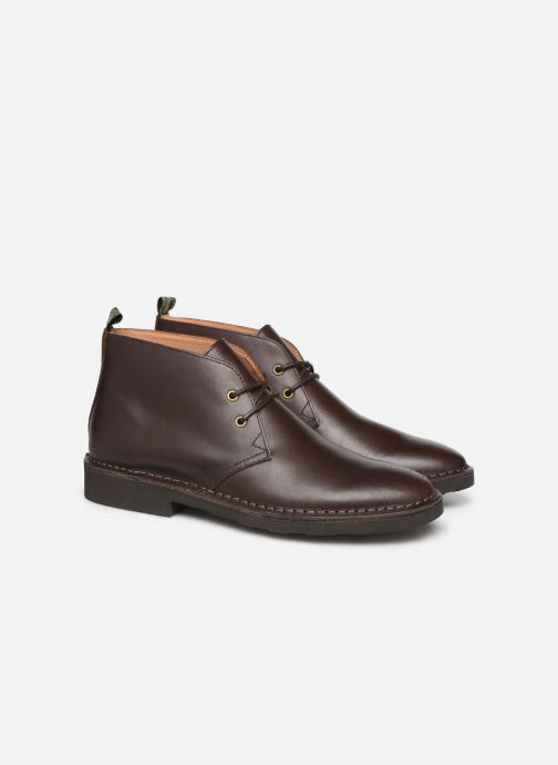 Bottines et boots Polo Ralph Lauren Talan Chukka Smooth Leather Marron vue 3/4