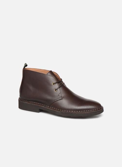 Bottines et boots Polo Ralph Lauren Talan Chukka Smooth Leather Marron vue détail/paire