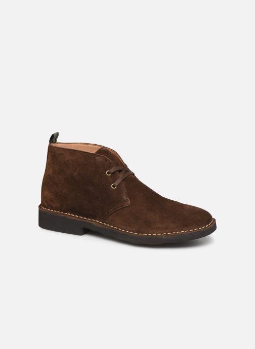 Bottines et boots Polo Ralph Lauren Talan Chukka Suede Marron vue détail/paire
