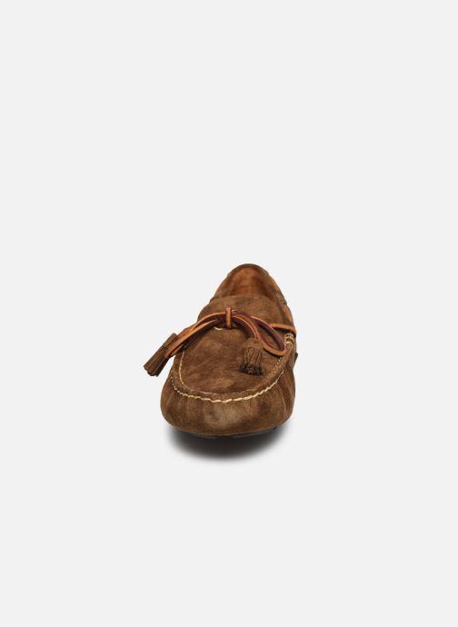 Mocassins Polo Ralph Lauren Anders Loafr- Suede Marron vue portées chaussures