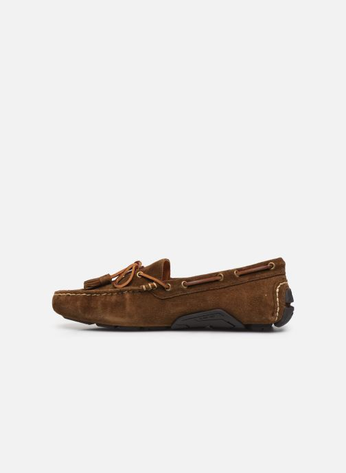 Mocassins Polo Ralph Lauren Anders Loafr- Suede Marron vue face