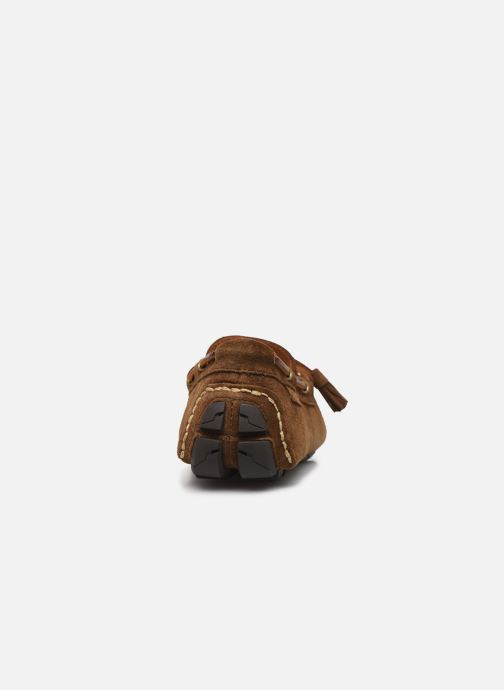 Mocassins Polo Ralph Lauren Anders Loafr- Suede Marron vue droite