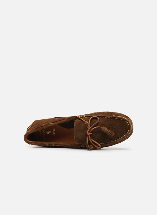 Mocassins Polo Ralph Lauren Anders Loafr- Suede Marron vue gauche