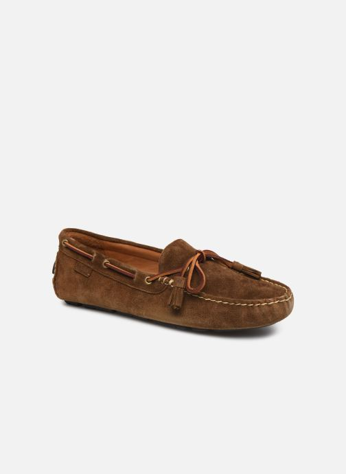 Mocassins Polo Ralph Lauren Anders Loafr- Suede Marron vue détail/paire