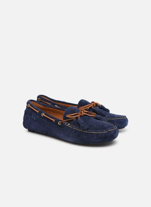 Mocassins Polo Ralph Lauren Anders Loafr- Suede Bleu vue 3/4