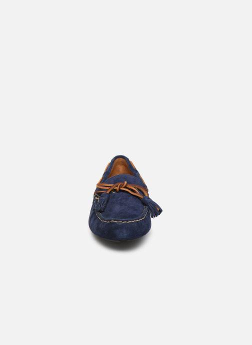 Mocassins Polo Ralph Lauren Anders Loafr- Suede Bleu vue portées chaussures