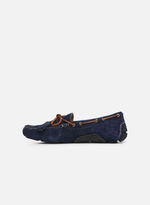 Mocassins Polo Ralph Lauren Anders Loafr- Suede Bleu vue face