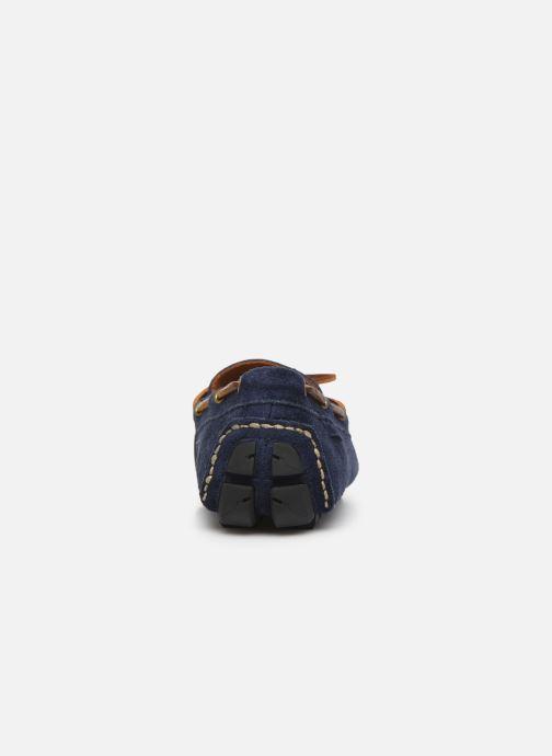 Mocassins Polo Ralph Lauren Anders Loafr- Suede Bleu vue droite