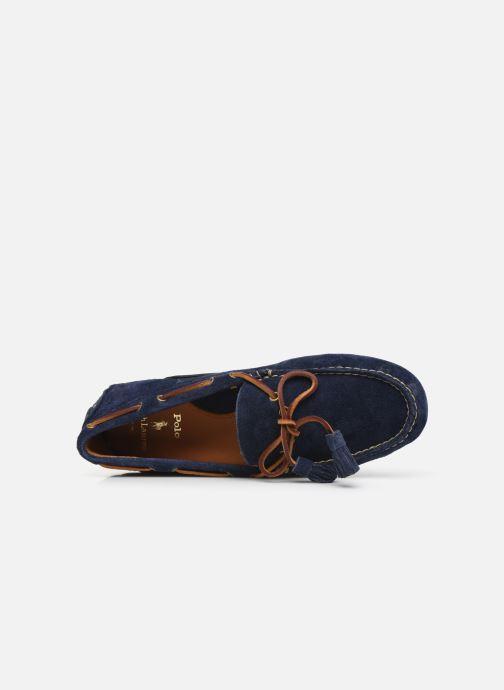 Mocassins Polo Ralph Lauren Anders Loafr- Suede Bleu vue gauche