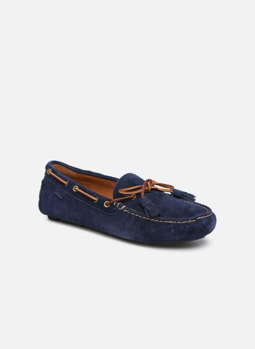 Mocassins Polo Ralph Lauren Anders Loafr- Suede Bleu vue détail/paire