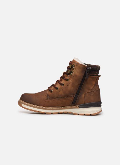 Bottines et boots Mustang shoes Tom Marron vue face