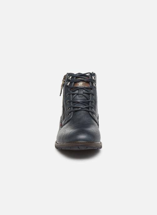 Bottines et boots Mustang shoes Anton Bleu vue portées chaussures