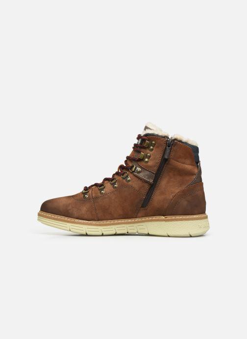 Bottines et boots Mustang shoes Steev Marron vue face