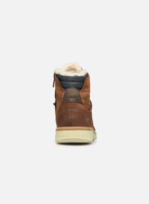 Boots en enkellaarsjes Mustang shoes Steev Bruin rechts