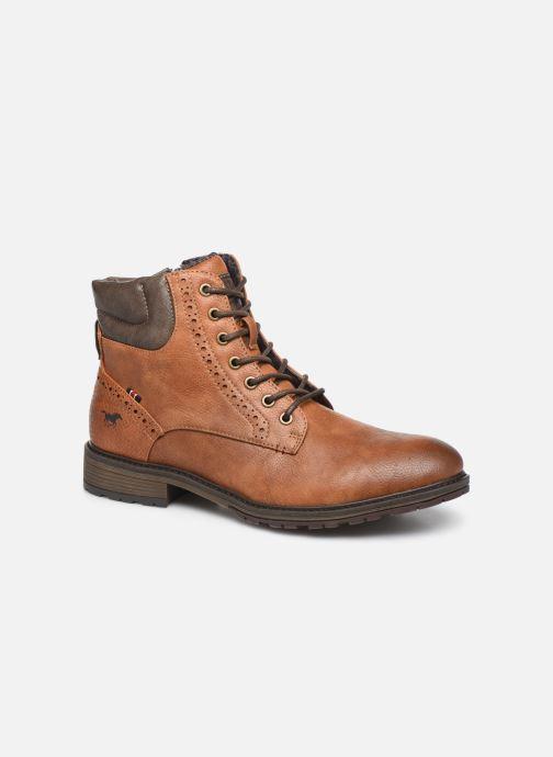Bottines et boots Mustang shoes Rob Marron vue détail/paire
