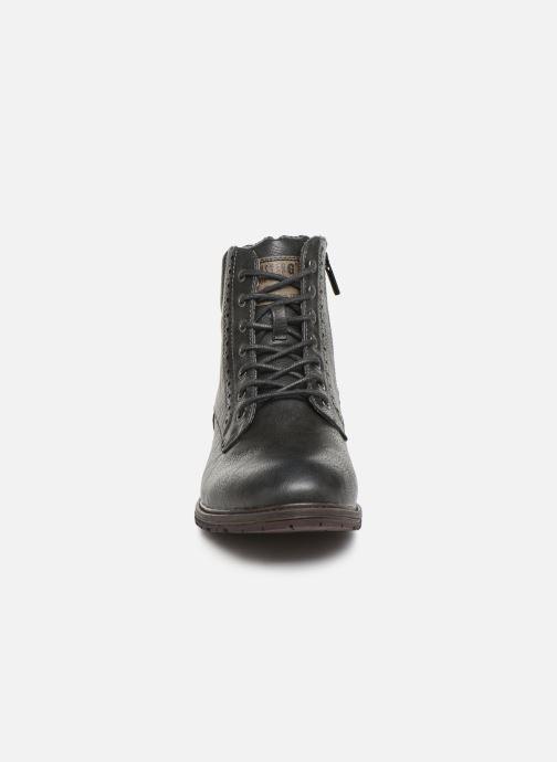 Bottines et boots Mustang shoes Rob Gris vue portées chaussures