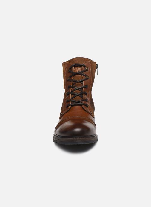 Bottines et boots Mustang shoes Samy Marron vue portées chaussures