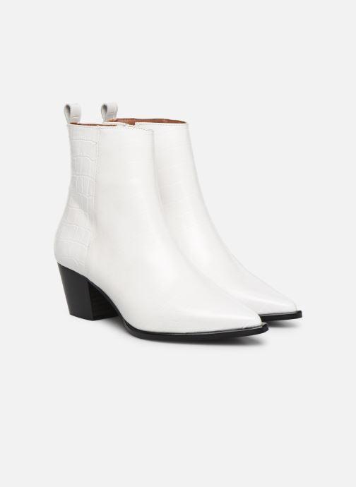 Botines  Made by SARENZA Soft Folk Boots #6 Blanco vistra trasera