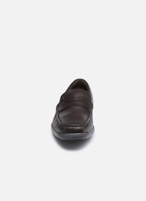 Mocassins Geox U DEVAN Marron vue portées chaussures