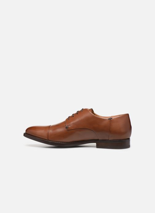 Lace-up shoes Geox U HAMPSTEAD Brown front view