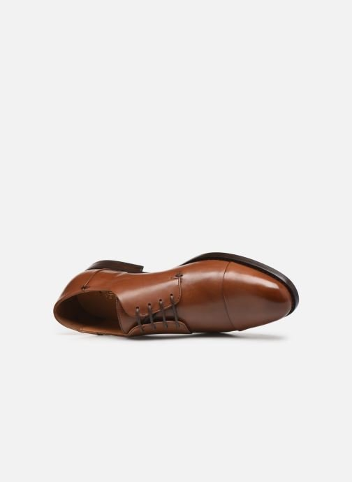 Lace-up shoes Geox U HAMPSTEAD Brown view from the left