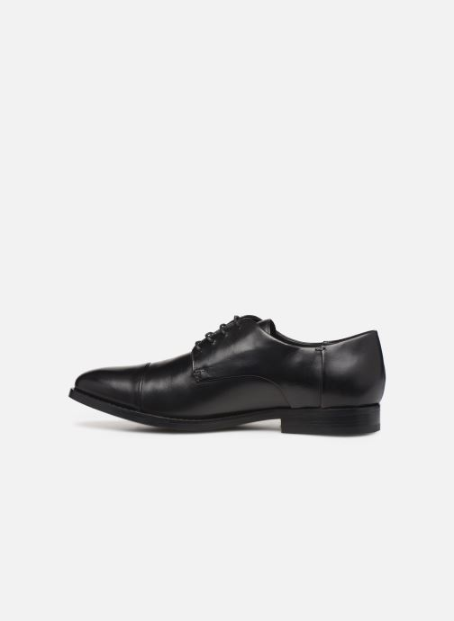 Lace-up shoes Geox U HAMPSTEAD Black front view