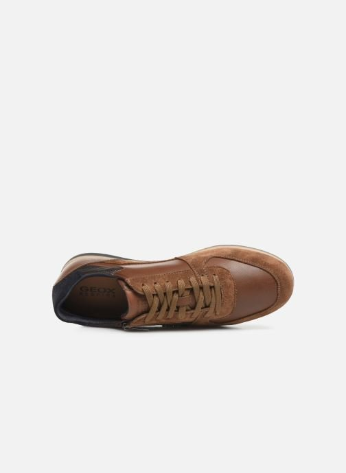 Trainers Geox U RENAN Brown view from the left