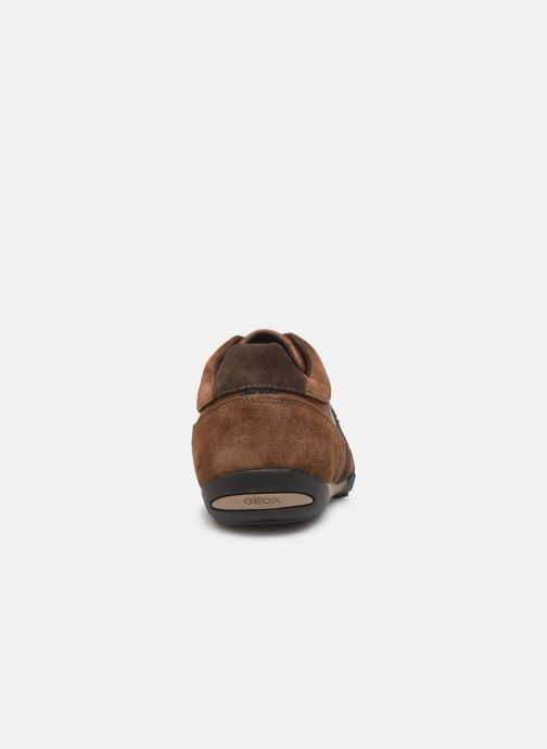 Trainers Geox U WELLS Brown view from the right