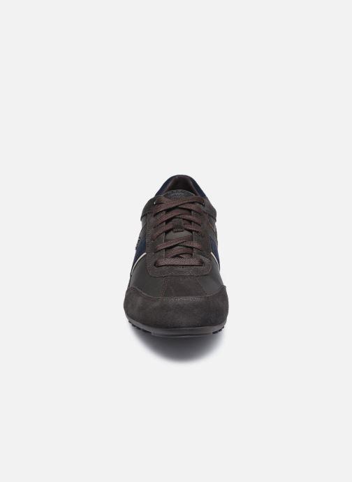 Baskets Geox U WELLS Marron vue portées chaussures