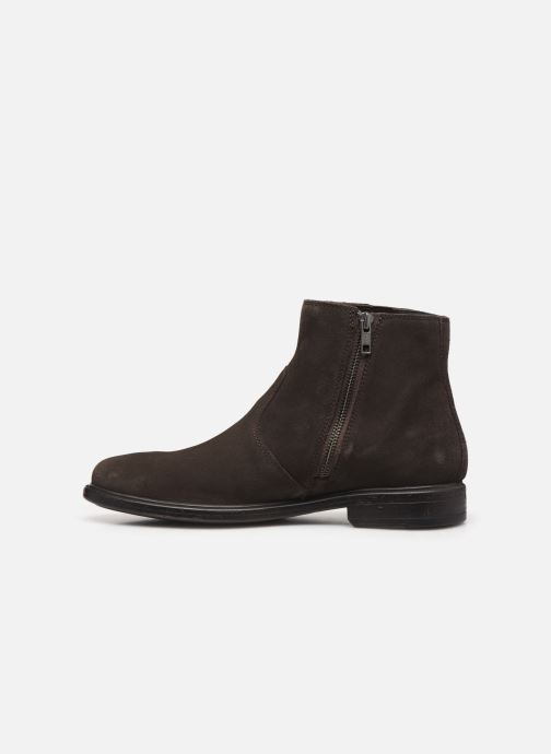 Ankle boots Geox U TERENCE boots Brown front view