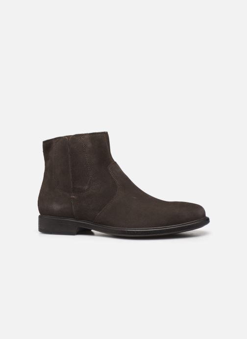 Ankle boots Geox U TERENCE boots Brown back view
