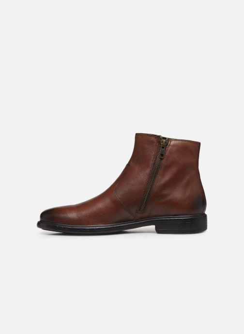 Ankle boots Geox U TERENCE high Brown front view