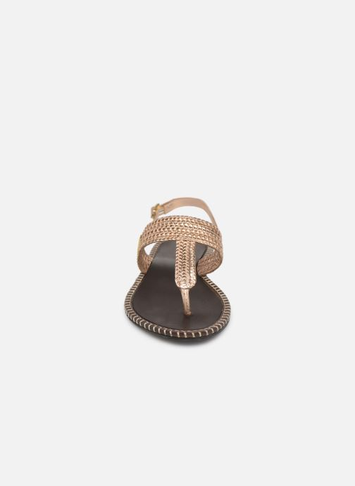 Sandalen Les Tropéziennes par M Belarbi Opper gold/bronze schuhe getragen