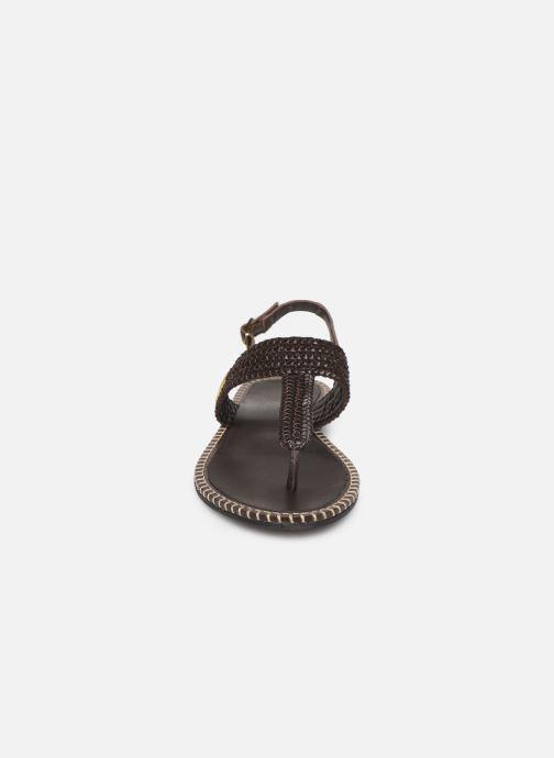 Sandalen Les Tropéziennes par M Belarbi Opper braun schuhe getragen