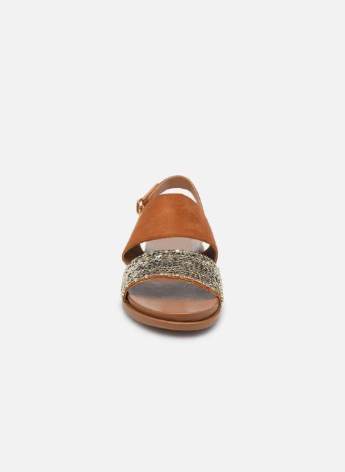 Sandales et nu-pieds Les Tropéziennes par M Belarbi Gyma Marron vue portées chaussures