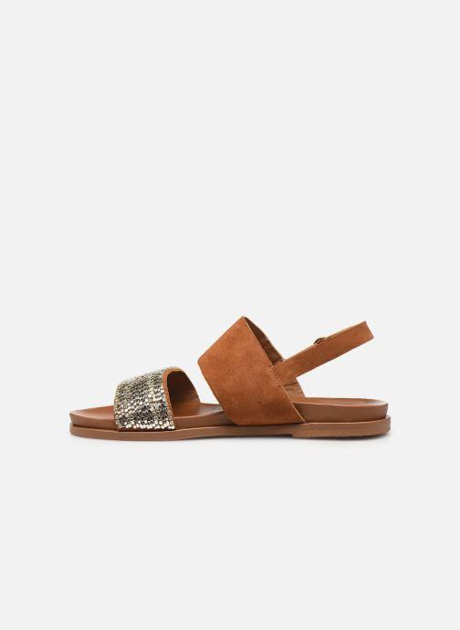 Sandales et nu-pieds Les Tropéziennes par M Belarbi Gyma Marron vue face