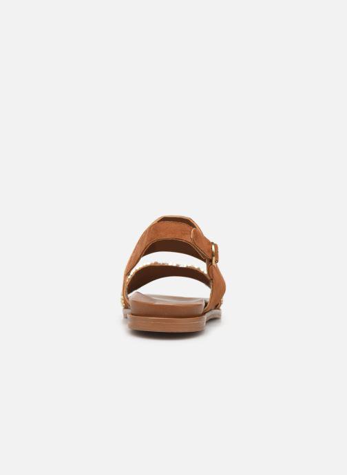 Sandales et nu-pieds Les Tropéziennes par M Belarbi Gyma Marron vue droite