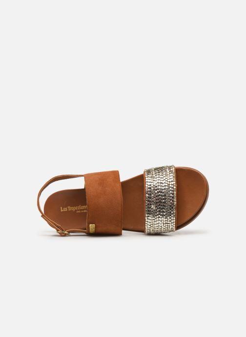 Sandales et nu-pieds Les Tropéziennes par M Belarbi Gyma Marron vue gauche