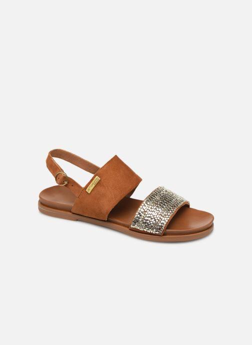 Sandales et nu-pieds Les Tropéziennes par M Belarbi Gyma Marron vue détail/paire