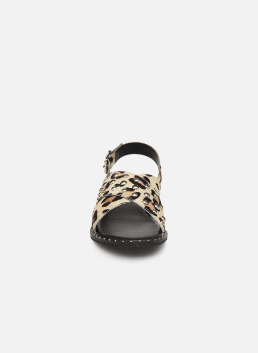 Sandales et nu-pieds Les Tropéziennes par M Belarbi Dolly Beige vue portées chaussures