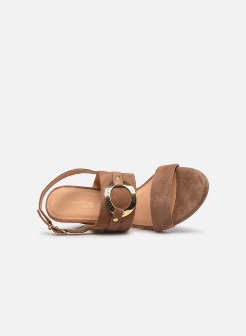 Sandals Les Tropéziennes par M Belarbi Olalia Brown view from the left